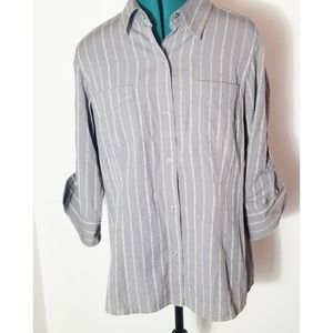 North Face Button Up Shirt, Woman XL